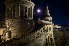 Budapest, Fishermans Bastion, Hungary. Budapest, Fishermans Bastion at night, Hungary Royalty Free Stock Photo