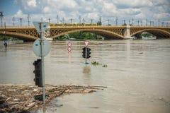Budapest floder Arkivbild