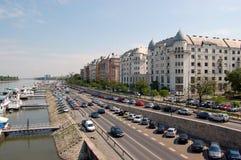 budapest flodstrand Royaltyfri Bild
