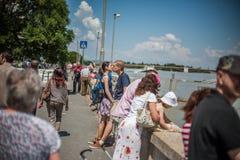 Budapest-Fluten Stockfotografie