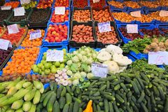 Budapest food market Royalty Free Stock Image