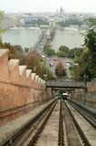 Budapest Form funicular Royalty Free Stock Photography
