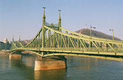 Budapest - the Freedom Bridge Royalty Free Stock Photography