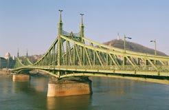 Budapest - the Freedom Bridge royalty free stock photography