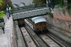 Budapest funiculaire Photos stock