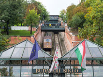 Budapest funicular Royalty Free Stock Photography