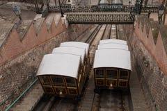 Budapest funikulär Stockfotografie