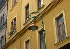 Budapest gatalampa Arkivfoto