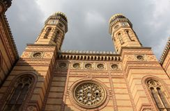 Budapest. Great Synagogue Stock Images