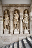 Budapest - guardians statues from Buda walls Royalty Free Stock Images