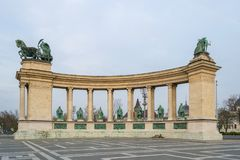Budapest-Helden quadrieren - Ungarn lizenzfreie stockbilder