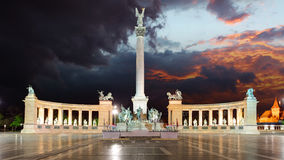 Budapest - Heroes square Stock Image