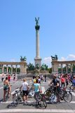 Budapest Heroes Square Royalty Free Stock Photos