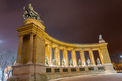 Budapest Heroes Square Royalty Free Stock Image