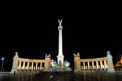 Budapest Heroes square Stock Photography
