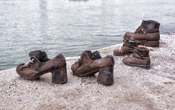 Budapest holocaust memorial Royalty Free Stock Image