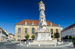 Budapest, Holy Trinity Square Stock Image