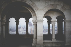 BUDAPEST, HONGRIE - 10 DÉCEMBRE 2015 : Le Parlement à Budapest, c Photographie stock