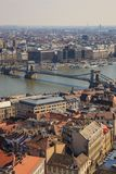 Budapest, Hongrie, le 22 mars 2018 : Pont-un à chaînes de Szechenyi des ponts les plus beaux de Budapest, Hongrie photographie stock