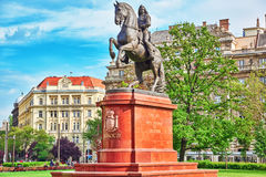 BUDAPEST, HONGRIE 2 MAI 2016 : Monument pour Francis II Rakoczi Photo libre de droits