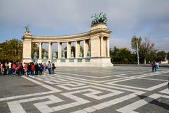 Budapest, Hongrie (place de héros) Photo stock