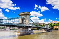 Budapest, Hongrie - pont à chaînes Images stock
