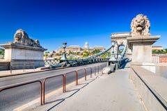 Budapest, Hongrie - pont à chaînes Image libre de droits