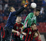 Budapest Honved - Ferencvaros OTP Bank League football match Stock Photography