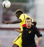 Budapest Honved vs Anzhi Makhachkala football game Royalty Free Stock Images