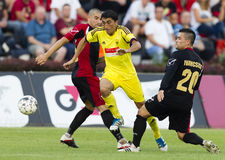 Budapest Honved vs Anzhi Makhachkala football game Stock Photography