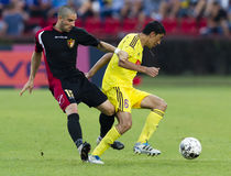 Budapest Honved vs Anzhi Makhachkala football game Stock Image