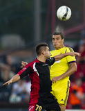 Budapest Honved vs Anzhi Makhachkala football game Royalty Free Stock Image