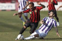 Budapest Honved vs. Ujpest FC OTP banka Ligowy futbolowy dopasowanie Obrazy Stock
