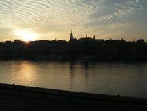 Budapest horisont Fotografering för Bildbyråer