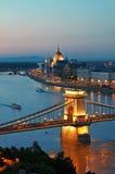 budapest horisont arkivbilder
