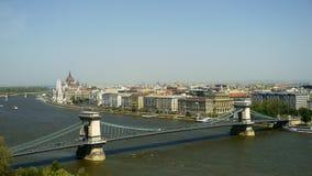 Budapest horisont Arkivfoto