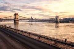 Budapest horisont, härlig cityscape av det historiska området, Ungern, Europa arkivbilder