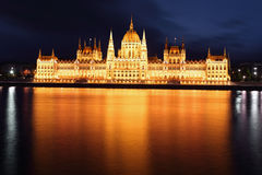 Budapest - Hungarian parliament. Stock Photos
