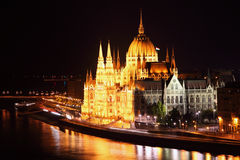 Budapest - Hungarian parliament. Royalty Free Stock Images