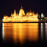 Budapest - Hungarian parliament Royalty Free Stock Images