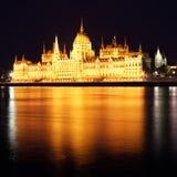 Budapest - Hungarian parliament. Budapest at night - Hungarian parliament Royalty Free Stock Images