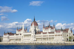 Budapest: Hungarian Parliament And Blue Danube Royalty Free Stock Images