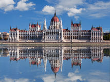 Budapest - Hungarian parliament.with reflection Royalty Free Stock Photos