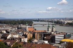 Budapest Hungary. Cityscape of Budapest Hungary summer 2009 royalty free stock photos