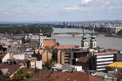 Budapest Hungary. Cityscape of Budapest Hungary summer 2009 royalty free stock images