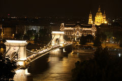 Budapest, Hungary. View of chain bridge in Budapest, Hungary Royalty Free Stock Image