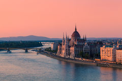 Budapest, Hungary. Parliament Building in Budapest, Hungary at sunset Royalty Free Stock Photo