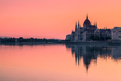Budapest, Hungary. The Parliament Building in Budapest at Dawn Royalty Free Stock Images