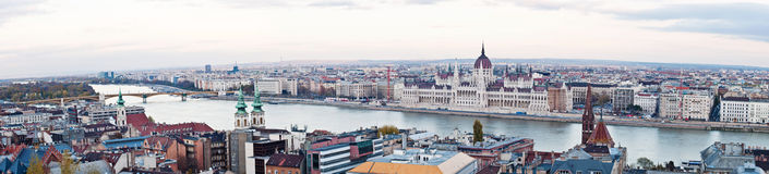 Budapest, Hungary. Panoramic shot of Budapest and the Danube river, Hungary Stock Photos