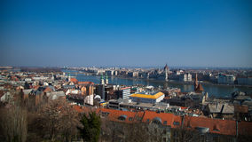 Budapest, Hungary from above Royalty Free Stock Photo